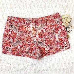FREE w/ Bundle Loft Floral Tropical Chino Shorts